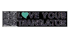 Sticker Love Your Translator