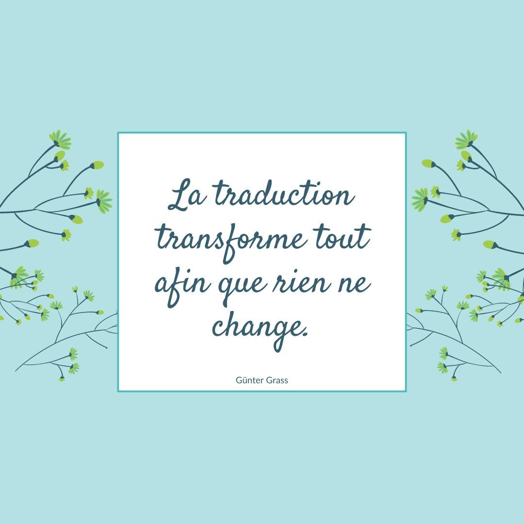 Modèle de citation modifié aux couleurs de Tradupreneurs